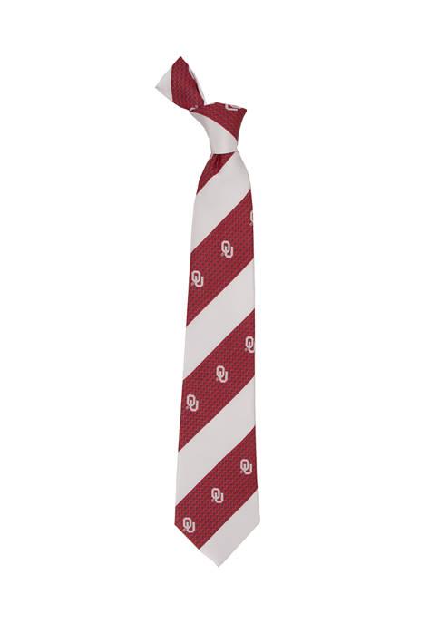 Eagles Wings NCAA Oklahoma Sooners Geo Stripe Tie