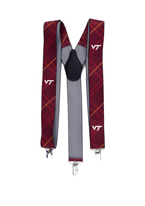 Eagles Wings NCAA Virginia Tech Hokies Oxford Suspenders