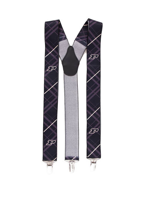 NCAA Purdue Boilermakers Oxford Suspenders