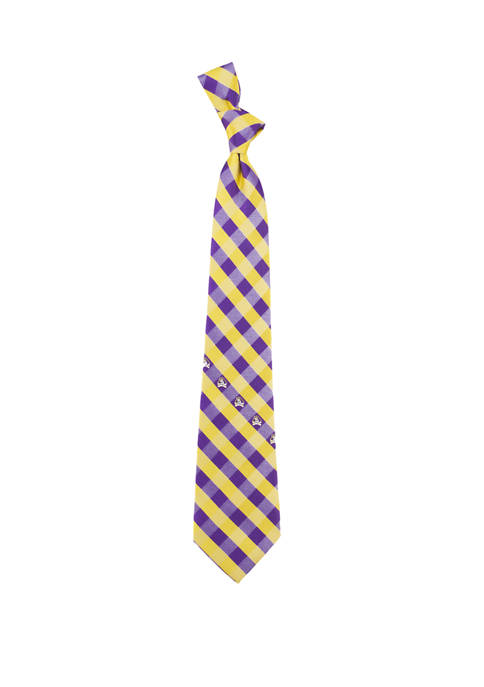Eagles Wings NCAA East Carolina Pirates Check Tie