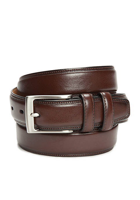 Madison 1.25-in. Milled Leather Feather Edge Belt with