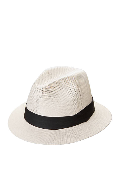 Dorfman Matte Toyo Safari Fedora Hat