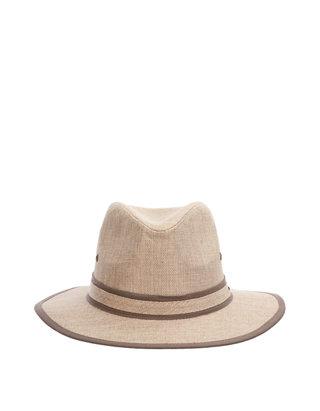 Stetson Men/'s Contrast Trim Fedora Hat