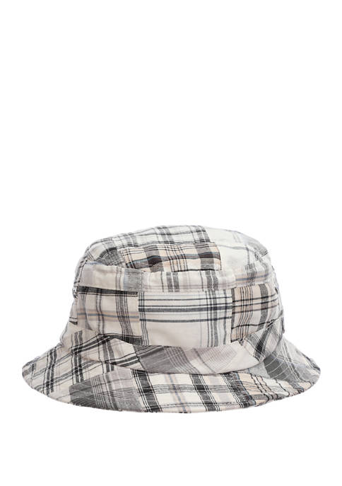 Mens Patchwork Bucket Hat