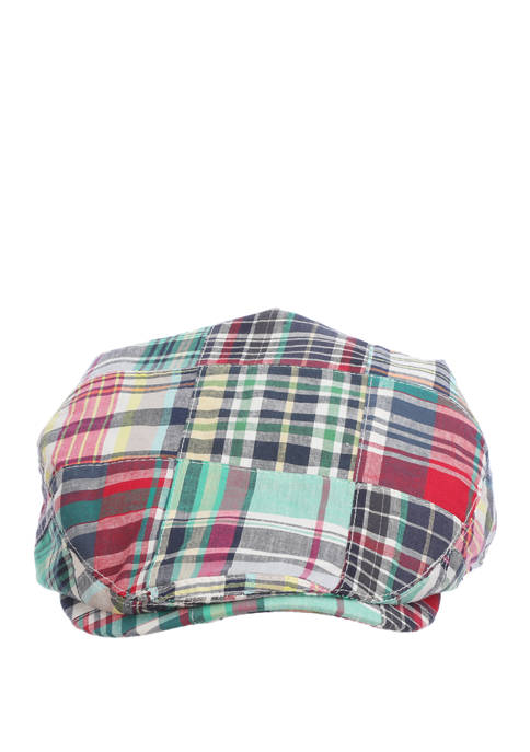 Mens Patchwork Driver Hat