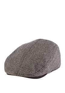 Herringbone Split Top Driving Cap