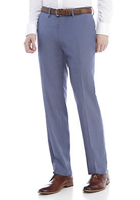 Blue Chambray Stretch Pants
