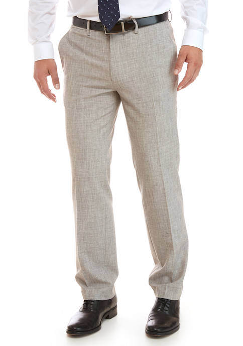 Madison Heather Gray Faux Flannel Pants