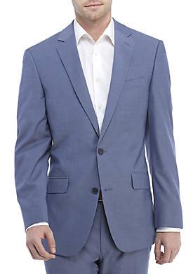 Blue Chambray Stretch Coat