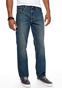 Colorblock Woven Shirt & Slim Straight Eagle Jeans