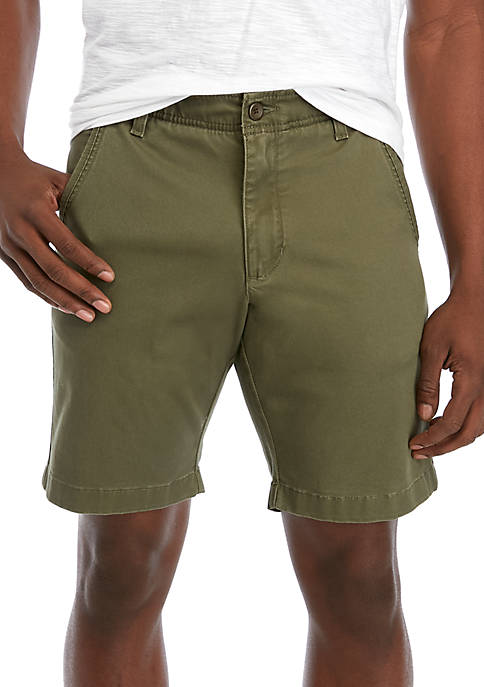 9 in Flat Front Shorts