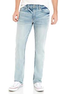 TRUE CRAFT Straight Fit Belton Stretch Jeans