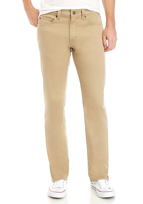 Straight Fit Khaki Jeans