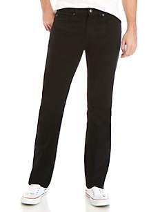 TRUE CRAFT Stretch Straight Fit Black Bull Jeans