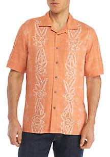 Short Sleeve Camp Panel Shirt