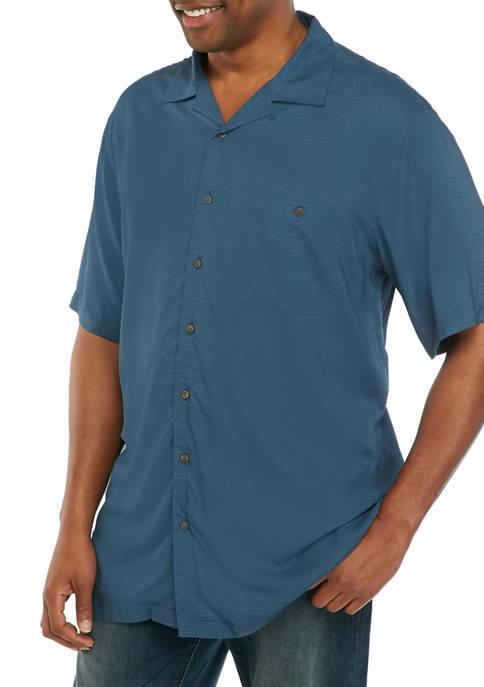 Big & Tall Solid Camp Shirt