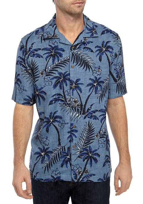 Saddlebred® Short Sleeve Rayon Camp Shirt