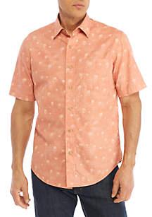 Short Sleeve Camp Mini Palm Shirt