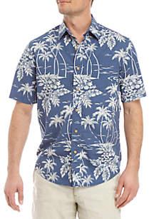 Saddlebred® Short Sleeve Printed Camp Shirt