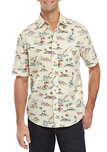 Saddlebred® Short Sleeve Printed Camp Shirt