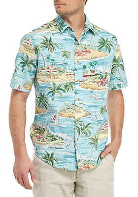 7f64c1fb423b4d Saddlebred® Short Sleeve Printed Camp Shirt ...