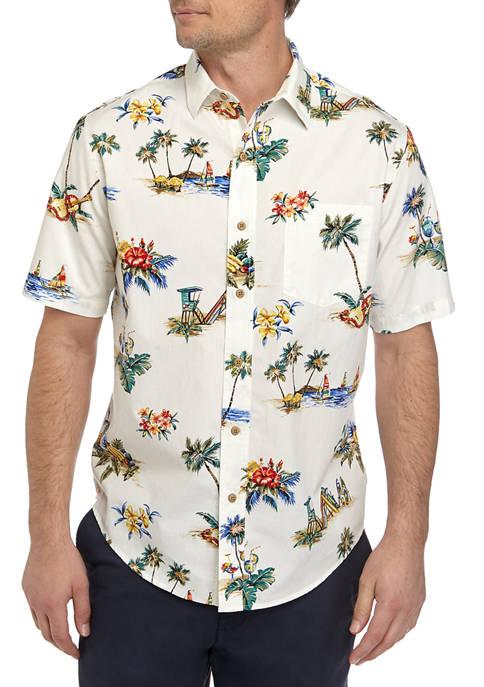 Saddlebred® Short Sleeve Cotton Camp Shirt