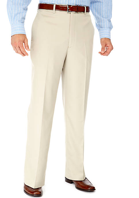 Big & Tall Straight Fit Flat Front Wrinkle Resistant Dress Pants