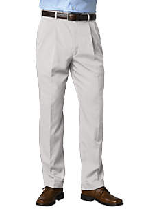 Straight-Fit Pleated Wrinkle-Resistant Dress Pants