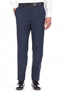Flat Front Straight Fit Sharkskin Pants