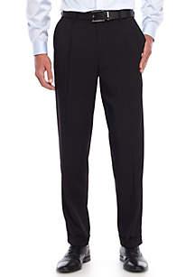 Saddlebred® Big & Tall Comfort Waist Stretch Pleated Pants