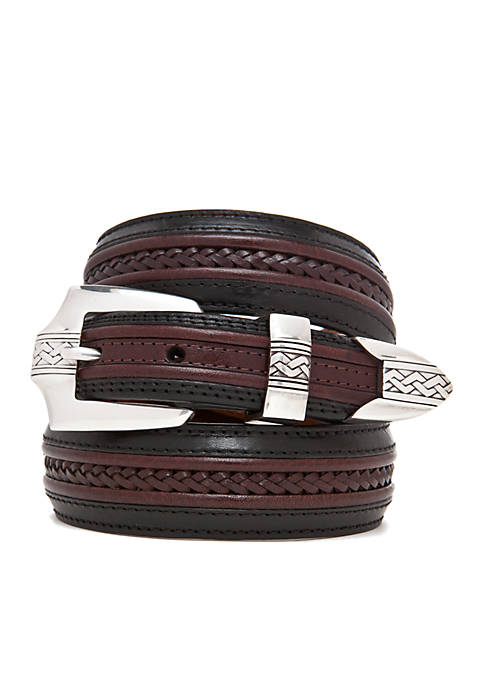 Leather Pinon Hills Inlay Lace Belt