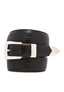 Avalon Leather Basketweave Belt