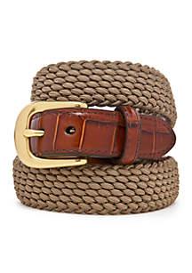 Leather Elastic Cord Belt