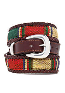 Santos Leather Fabric Taper Belt