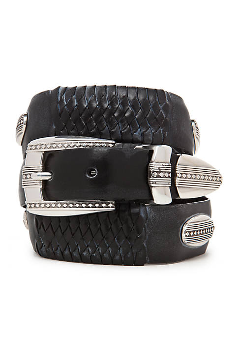 Leegin Eastwood Leather Ornament Taper Belt