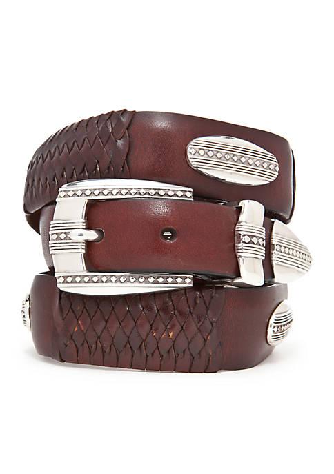 Leegin Eastwood Leather Ornament Taper Belt