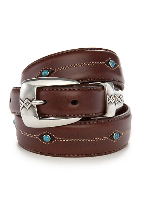 Leegin Cody Leather Turquoise Taper Belt