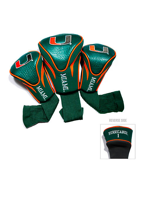 Team Golf Miami Hurricanes 3-Pack Contour Head Covers