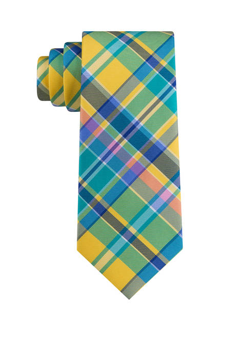 IZOD Madras Plaid Tie