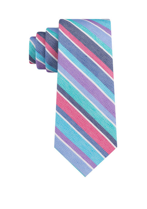 IZOD Linen Rainbow Stripe Tie
