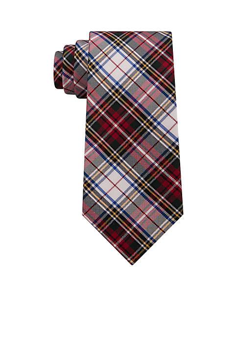 IZOD White Tartan Tie