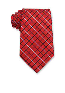 Grid Pattern Tie
