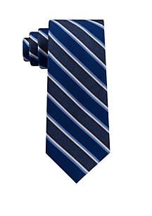 Alternating Denim Striped Neck Tie