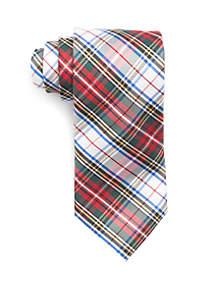 White Tartan Tie