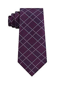 Grid Plaid Tie