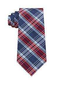 Denim Plaid Neck Tie