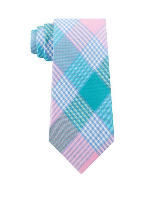IZOD Brookland Plaid Print Tie
