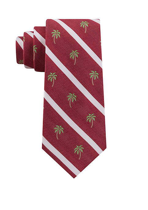 IZOD Palm Tree Stripe Tie