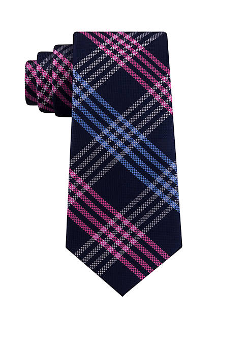IZOD End Zone Grid Print Tie