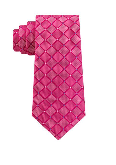 IZOD Augustine Grid Print Tie